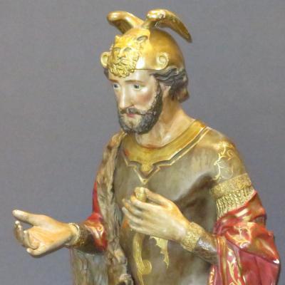 Tres Grande Reliquary Statue Saint Flavien 177 Cm Nineteenth Tbe