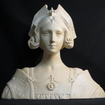 GRAND BUSTE en terre cuite femme ART Nouveau 1900 Pre Raphaelite