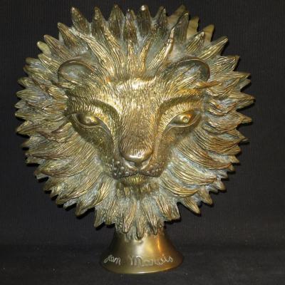 Jean MARAIS double tete de LION en bronze