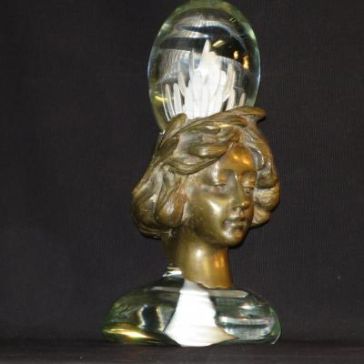 Gotfried Hoellwarth Sculpture Bronze And Glass 1972 Koralle