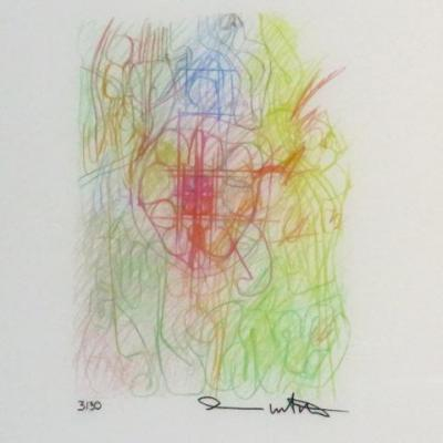 Hermann Nitsch (1938 ) Lithographie Couleurs  Actionniste Viennois
