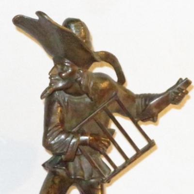 Jacques CALLOT (d'apres) SCULPTURE XIXe en bronze encrier / bougeoir BALLI