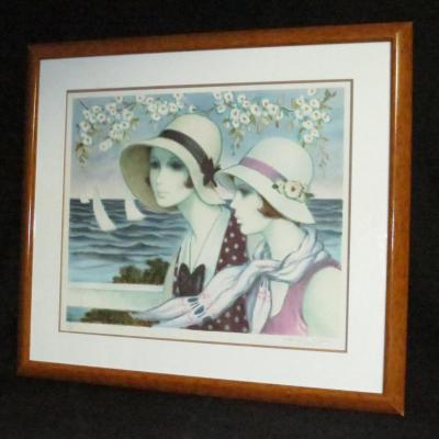 François Batet (1921-2015) Elegant The Grand Regatta Lithograph Framed