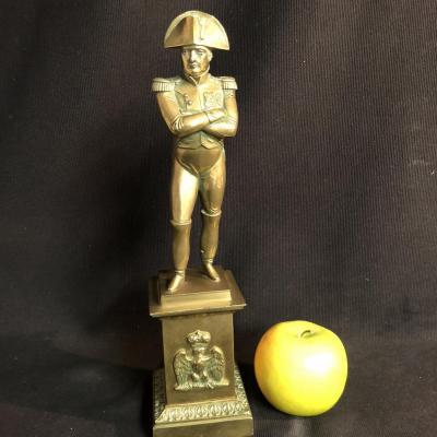 NAPOLEON Ier statue bronze XIXe Empereur en pied avec son bicorne Empire