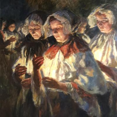 Othmar Ruzicka The Procession In The Lights 1928 Exhibition Austria