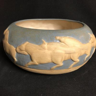 Jack Black Ceramic Cup With Horseshoe In Antique Twentieth Horse