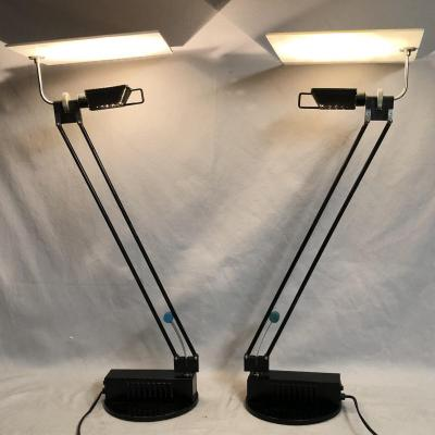 Sacha Ketoff Pair Of Articulated Lamps Model Wo 1985 Publisher Aluminor Lamp Wo