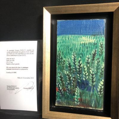 Jean Dufy 1888-1964 Oil On Canvas Catalog Raisonné Ears Of Wheat Signed Expertise