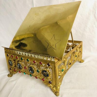 ANCIEN PUPITRE THABOR LUTRIN vers 1880 porte missel d' autel église