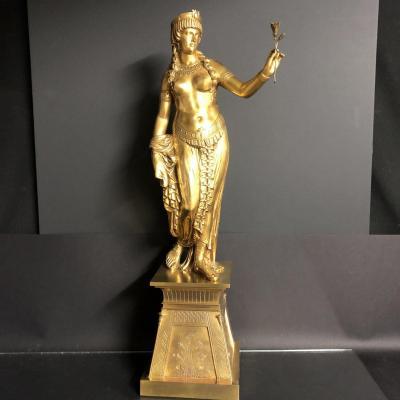Jean Baptiste Auguste Clésinger 1814-1883 Cléopâtre bronze 66,5 cm Clesinger Cleopatre