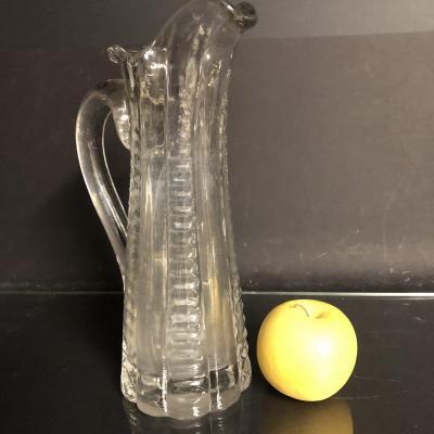 PICHET BROC Normand XIXe en verre soufflé et taillé incolore Art Populaire