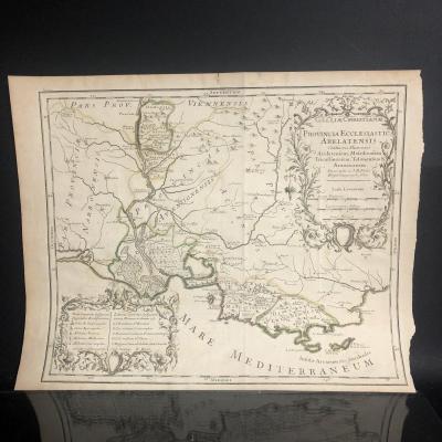 Map XVIII Arles Marseille Toulon Avignon By Jb Nolin Provincia Ecclesiastica Arelatensis