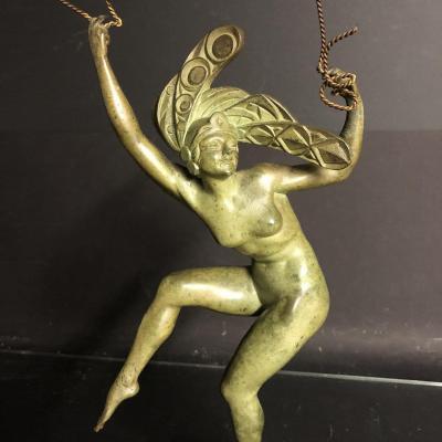 MORANTE Jean Pierre XIXe-XXe Bronze Art Deco Danseuse signé