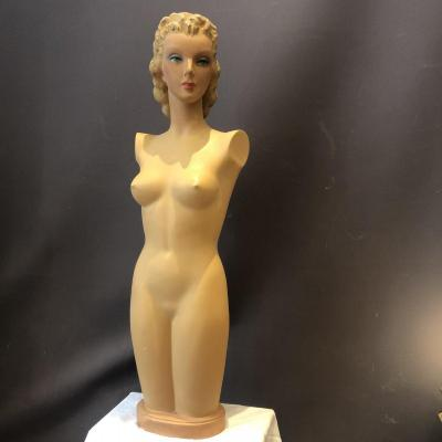Large Mannequin Of Siegel Art Deco Showcase 1930 Human Size 122 Cm In Very Good Condition