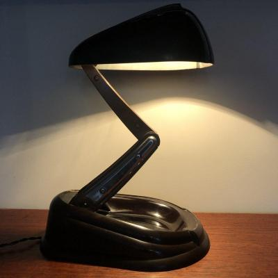 Jumo Desk Lamp In Brown Bakelite Lucidus Bloc 1945 Bolide Model In Very Good Condition