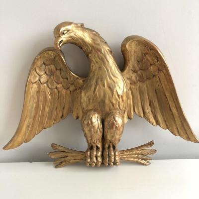 Carved And Gilded Wooden Imperial Eagle