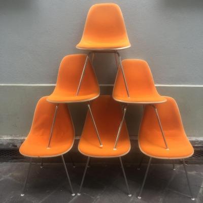 Charles et Ray EAMES Rare suite de 6 chaises DSX Edition Herman MILLER 1960