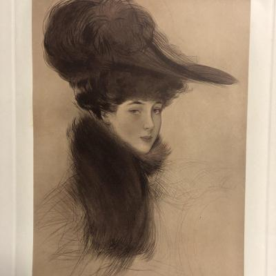 Paul Cesar Helleu 1859-1927 Lithograph La Duchesse Of Marlborough Signed In Very Good Condition
