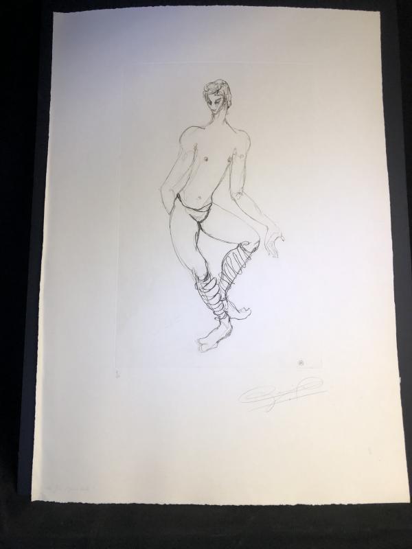 Maurice BEJART Ballet Grande eau forte Alix ANTOINE vers 1960 Danse danseur  -photo-3
