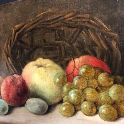 George M. Leonard 1826-? Still Life With Fruits Nineteenth