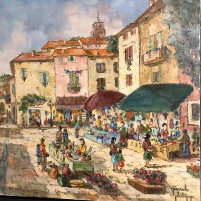 Philippe Giraudo XXth Great Vaison La Romaine Oil The Market In Provence