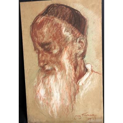 José Cruz Herrera 1890-1972 Pastel Portrait D 'oriental 1937 Morocco Casablanca Spain