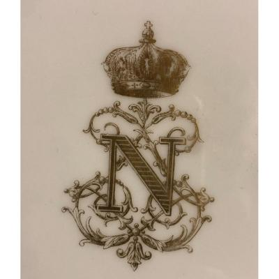 Plate Of The Service Of The Emperor Napoleon III Manufacture De Sèvres 1857 Crown