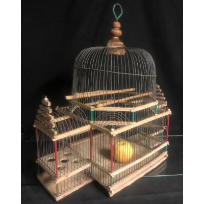 Charming Late 19th Century Bird Cage In Architectural Form