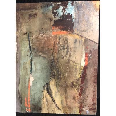 Suzanne PALIARD XXe Huile sur bois Abstraite