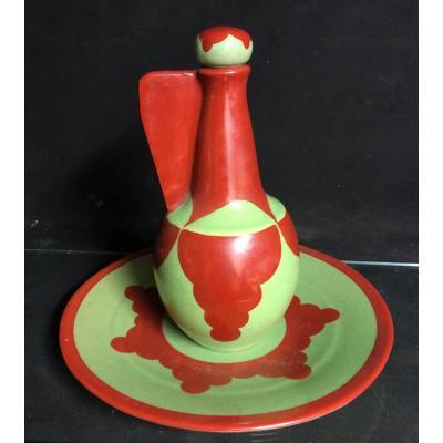 René Herbst 1891-1982 Rare Full Service Ceramic Cusenier Uam Exhibition Of 1925