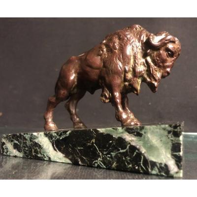 Bison d'Amerique Art Deco Bronze Sculpture 1925