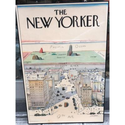Saul Steinberg 1914-1999 The New Yorker Large Lithographic Panel 1976