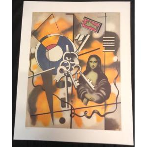 Fernand LEGER 1881-1955 Lithographie JOCONDE AUX CLEFS  Succession Thénier Nadia KHODOSSIEVICH