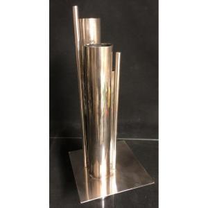 Gio PONTI Vase ORGUE 1950 pour CHRISTOFLE Collection GALLIA poinçons