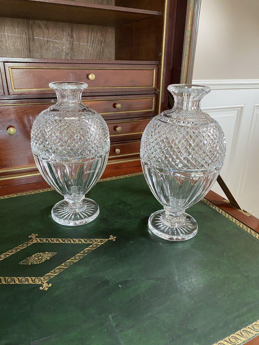 Baccarat. Paire De Vases