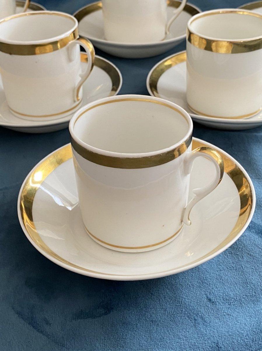 Tasses Litron En Porcelaine De Paris D'époque Empire/ Restauration -photo-2