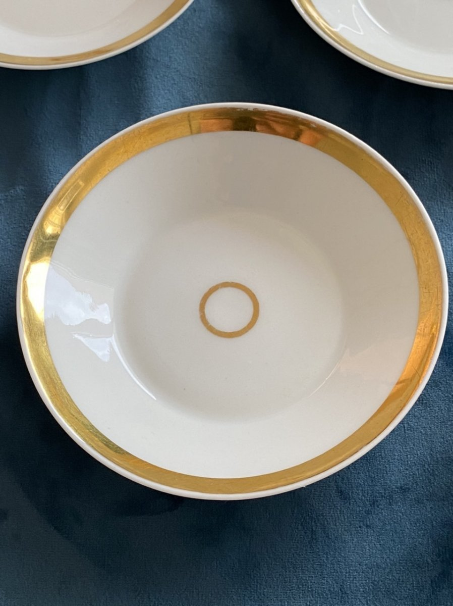 Tasses Litron En Porcelaine De Paris D'époque Empire/ Restauration -photo-3