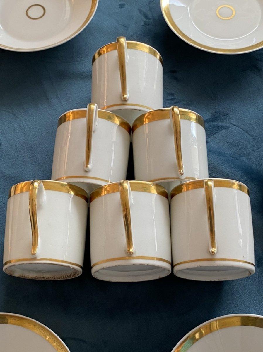 Tasses Litron En Porcelaine De Paris D'époque Empire/ Restauration -photo-5
