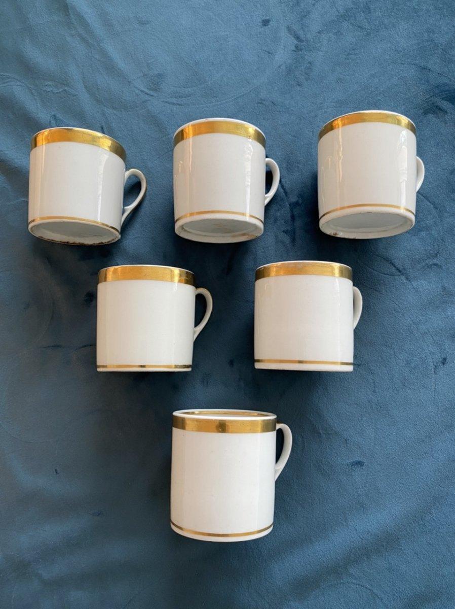Tasses Litron En Porcelaine De Paris D'époque Empire/ Restauration -photo-6