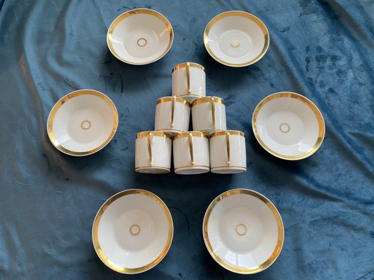 Tasses Litron En Porcelaine De Paris D'époque Empire/ Restauration -photo-7