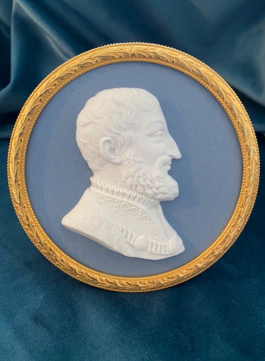 Sèvres  : Portrait De François 1er En Biscuit Du Sculpteur Mascret (actif De 1810-1848)