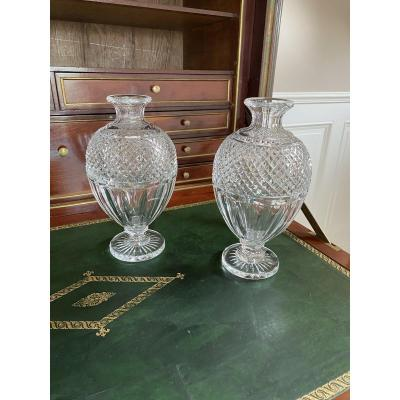 Baccarat. Pair Of Vases