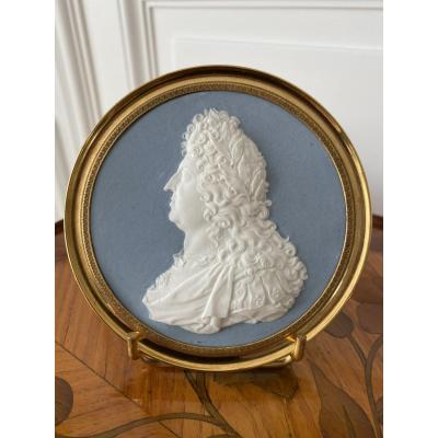 Sevres: Portrait Of Louis XIV In Biscuit From The Sculptor Oger 1784-1821