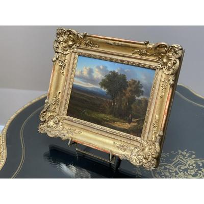 Tableau. Beau Paysage , Signé Auguste Böhm (1819-1891)