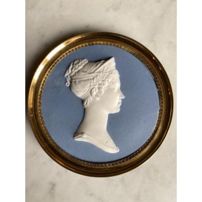 Sèvres : Portrait De Joséphine En Biscuit Du Sculpteur Alexandre Brachard 1775-1843