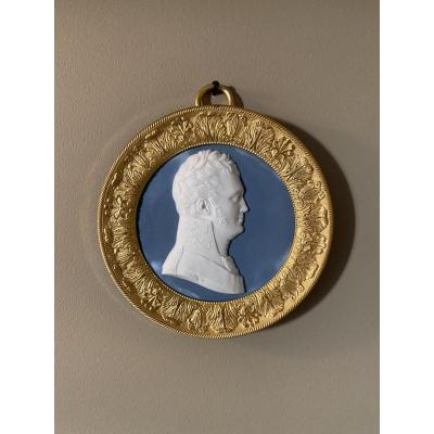 Sèvres: Portrait Of Alexander 1st Of Russia, Biscuit By Sculptor Alexandre Brachard 1775-1843