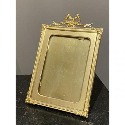 Picture Holder Frame In Gilt Bronze Louis XVI Style Late Nineteenth