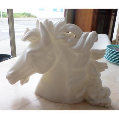 Sculpture Of Horse Head