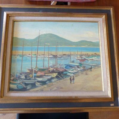 Claude Chevreau Oil On Canvas