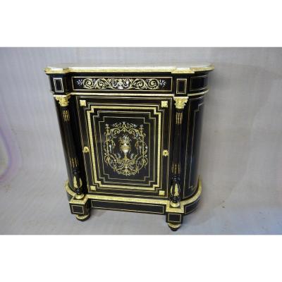 Meuble d' appui Epoque Napoléon III. marqueterie de laiton ,nacre ,ivoire
